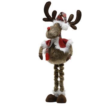 Festive 71cm Brown Plush Standing Reindeer
