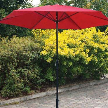 2.7mtr Burgandy Steel Parasol with Crank