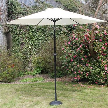 2.7mtr Cream Steel Parasol with Crank