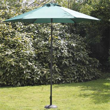 2.7mtr Green Steel Parasol with Crank