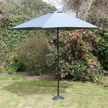 2.7mtr Grey Steel Parasol with Crank