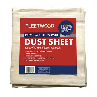 Fleetwood Premier Cotton Dust Sheet 12 x 9ft
