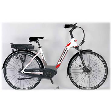 "Monteria Pedelec 19"" E Bike with Battery & Charger (White/Red)"