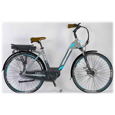 "Monteria Pedelec 19"" E Bike with Battery & Charger (Grey/Blue)"