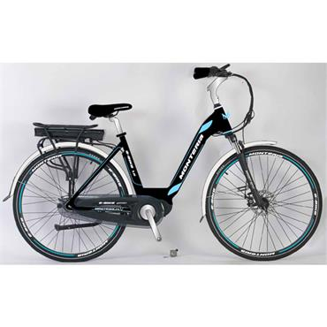 "Monteria Pedelec 19"" E Bike with Battery & Charger (Blue/Black)"