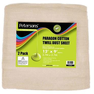 "Petersons Paragon Dust Sheet 2pk 12"" x 9"""