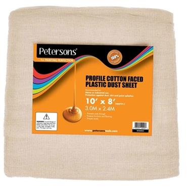 Petersons Cotton Faced Plastic Dust Sheet 10 x 8ft