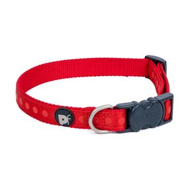 Petface Red Tonal Dots Dog Collar X-Small