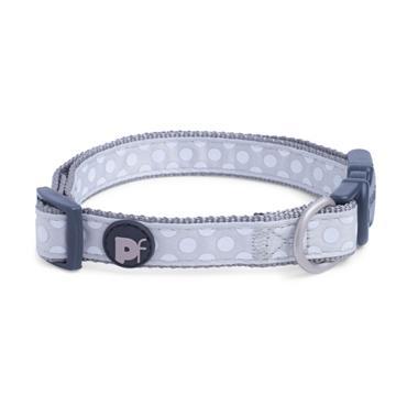 Petface Light Grey Tonal Dog Collar Medium