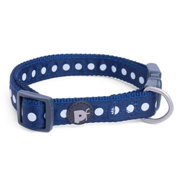 PetFace Medium Dog Collar Blue & White