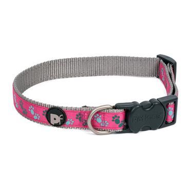 Petface Cerise Grey Dog Collar X-Small