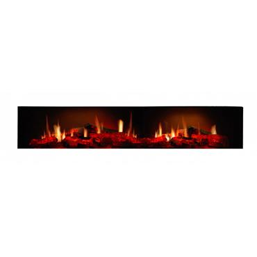 Dimplex Opti-V Wall Mounted Electric Fire Black