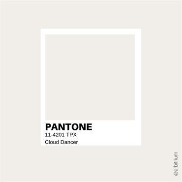 Pantone Sample Pot Cloud Dancer