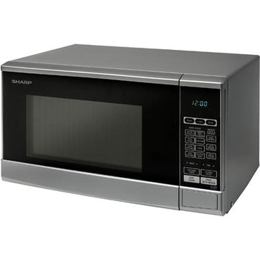 Sharp Silver 800w Compact Solo Microwave 20L