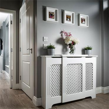 Tema Classic Adjustable White Radiator Cabinet Medium