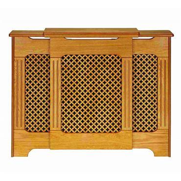 Classic Adjustable Oak Radiator Cabinet Large