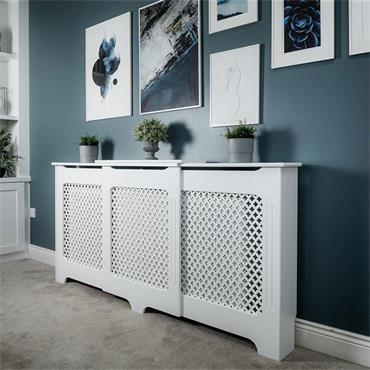 Tema Classic Adjustable White Radiator Cabinet Large