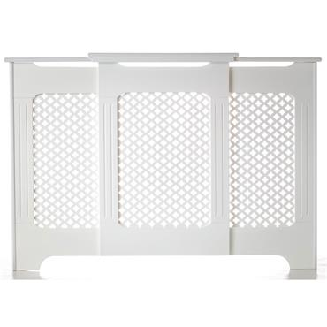 Classic Adjustable White Radiator Cabinet Large