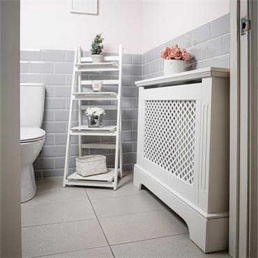 Tema Georgian White Radiator Cabinet Small