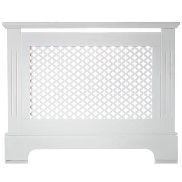 Georgian White Radiator Cabinet Small
