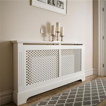 Tema Georgian White Radiator Cabinet Medium