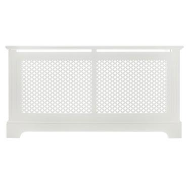 Georgian White Radiator Cabinet Large