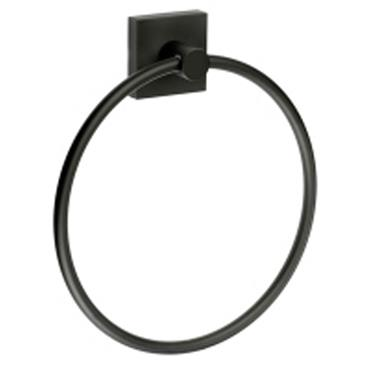 House Black Towel Ring