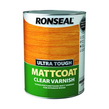 Ronseal Ultra Tough Mattcoat Clear Varnish 5L