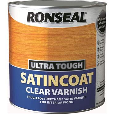 Ronseal Ultra Tough Satincoat Clear Varnish 5L