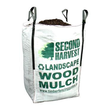 Second Harvest 1 Cubic Meter Bag Walnut Wood Mulch