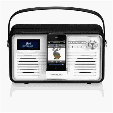 View Quest Retro Internet Radio Black/Cream