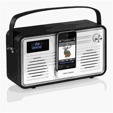 View Quest Retro Internet Radio Black/Cream