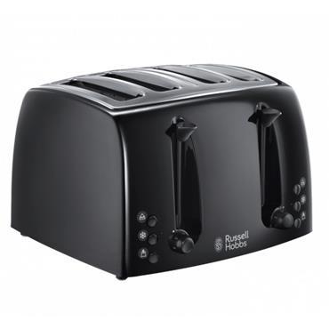 Russell Hobbs Textures 4 Slice Black Toaster