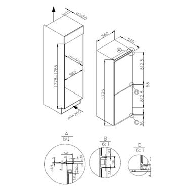 Nordmende Integrated 50/50 Fridge Freezer