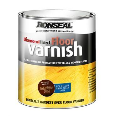 Ronseal Diamond Hard Floor Varnish Mellow Satin 5L
