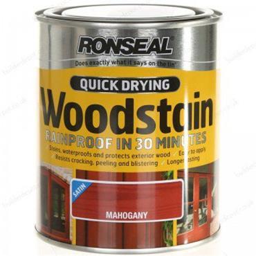 Ronseal Quick Drying Woodstain Satin Mahogany 750ml