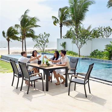 Panama 6 Seater Rectangular Dining Set