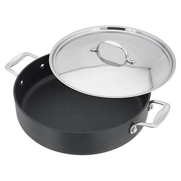 Stellar 28cm Hard Anodised Saute Pan Non Stick