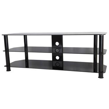 "AVF Classic Corner Glass TV Stand for Up to 60"" Black"