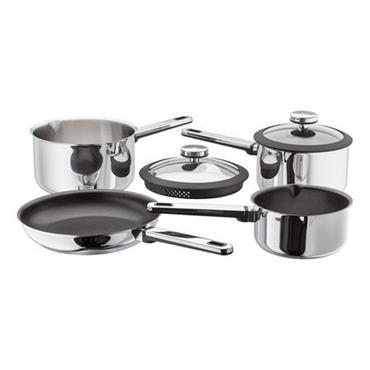 Stellar Stay Cool Draining Saucepan Set 4pc