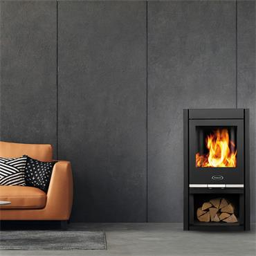 Waterford Stanley Solis F500 Wood Burning Curve Stove Graphite
