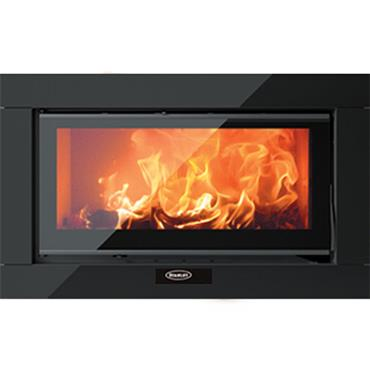 Solis I80ss Wood 12kw Singlesided Insert  Stove Glass Surround