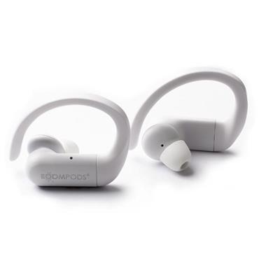 BoomPods Sportspods Bluetooth  Earbuds Ergohook Sweat Proof White