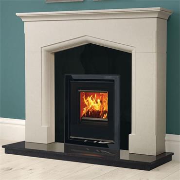 Henley Stoves Cedarwood 400 4.3kW Woodburning Inset Stove Matt Black