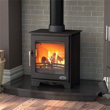 Henley Stoves Hazelwood Compact Woodburning Stove Matt Black