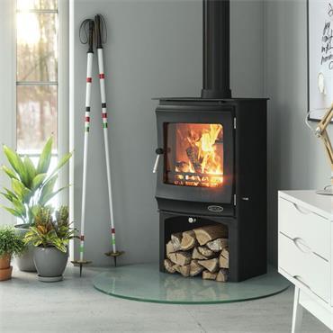 Henley Stoves Elcombe Eco5 Woodburning Stove (Optional Logstore) Matt Black