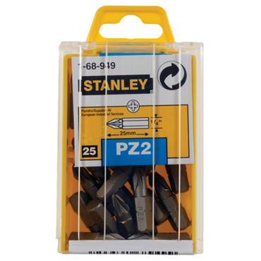 Stanley Pozidriv Bits PZ2 x 25mm 25pce