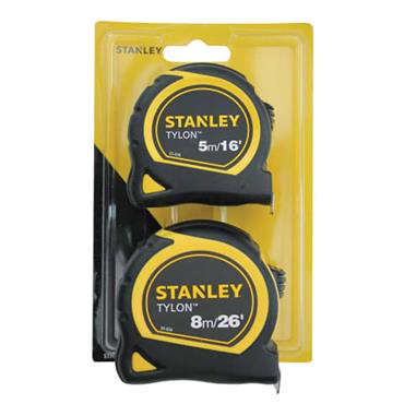 Stanley Tylon Pocket Tapes 5m & 8m Twin Pack
