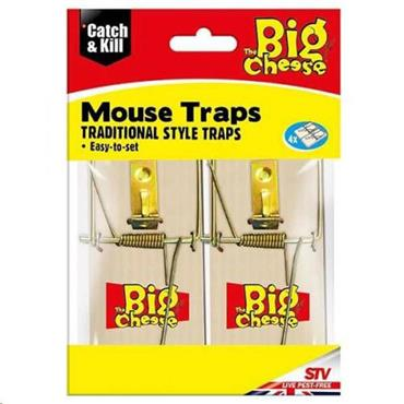 The Big Cheese Wooden Mouse Trap 4pk