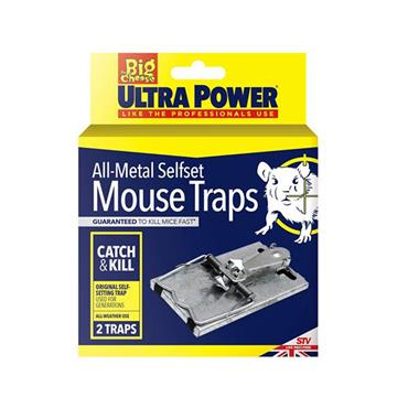 The Big Cheese Ultra Power All-Metal Selfset Mouse Trap 2pk